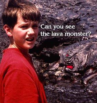 Use common sense and viewing lava close up-NO PROBLEM
